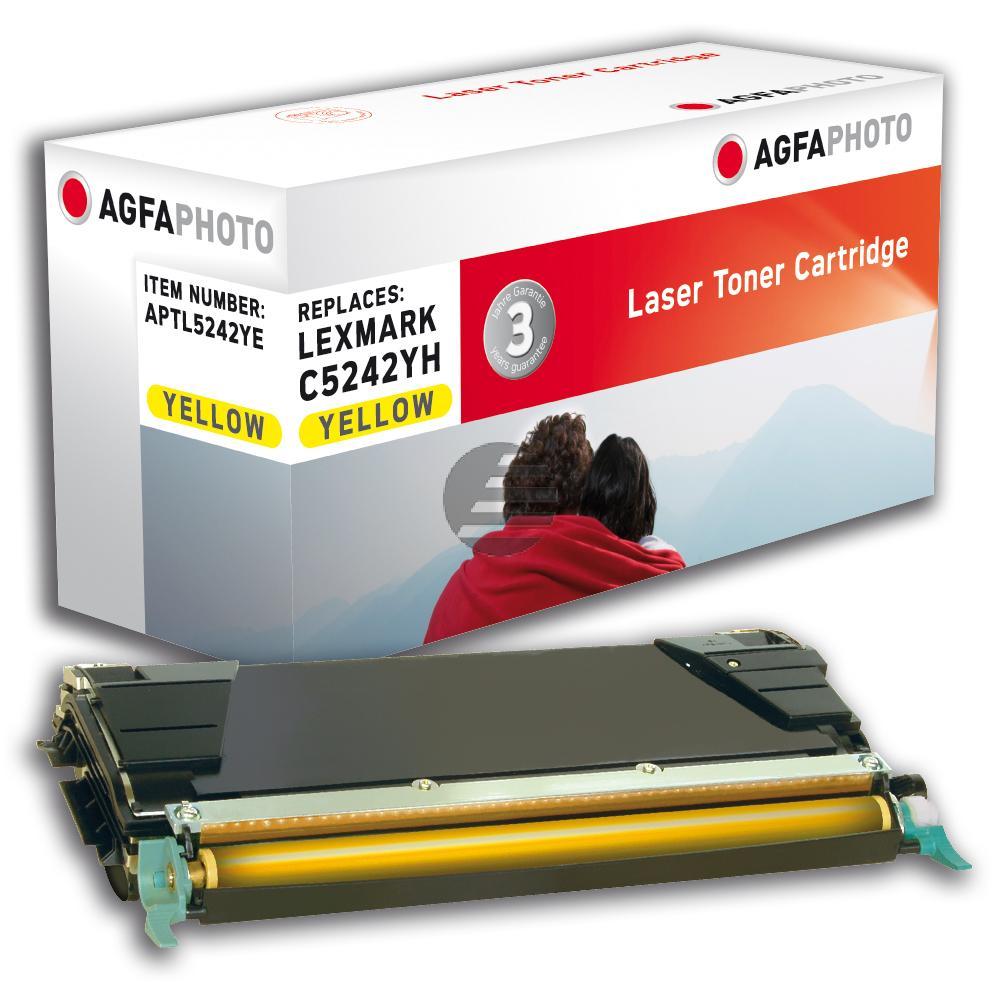 Agfaphoto Toner-Kartusche gelb HC (APTL5242YE) ersetzt C5242YH