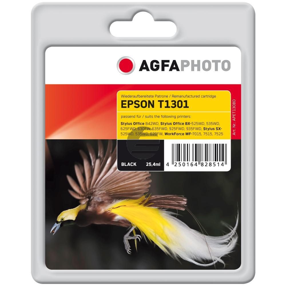 Agfaphoto Tintenpatrone schwarz (APET130BD) ersetzt C13T13014010 / T1301