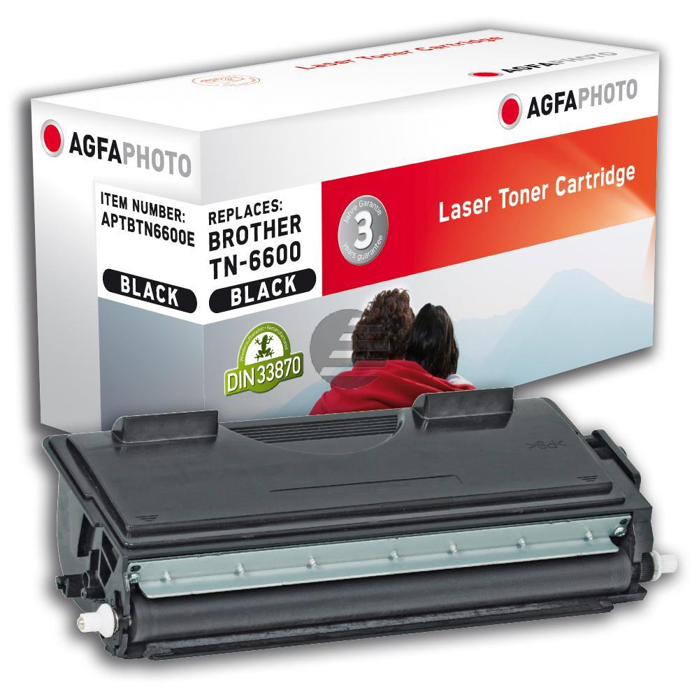 Agfaphoto Toner-Kartusche schwarz HC (APTBTN6600E) ersetzt TN-6600