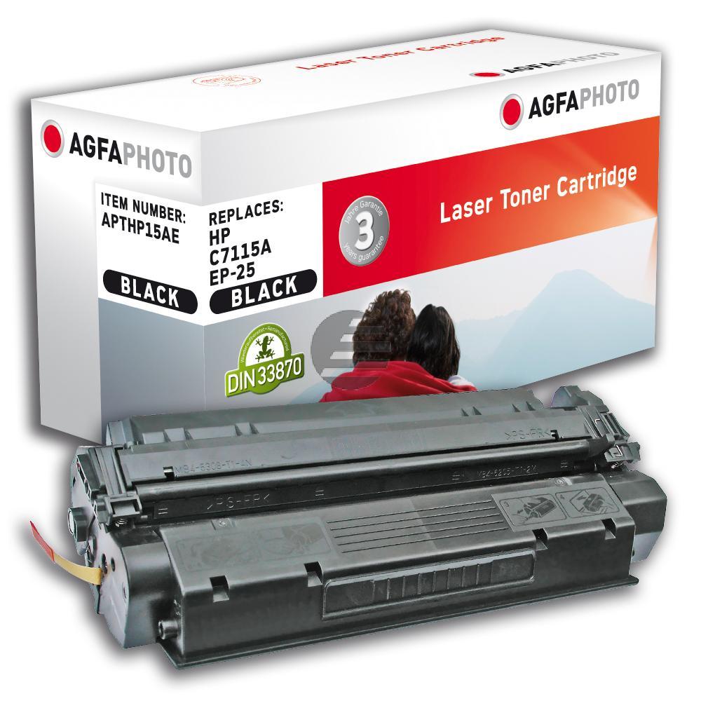 Agfaphoto Toner-Kartusche schwarz (APTHP15AE) ersetzt C7115A (15A), 5773A003 (EP-25)