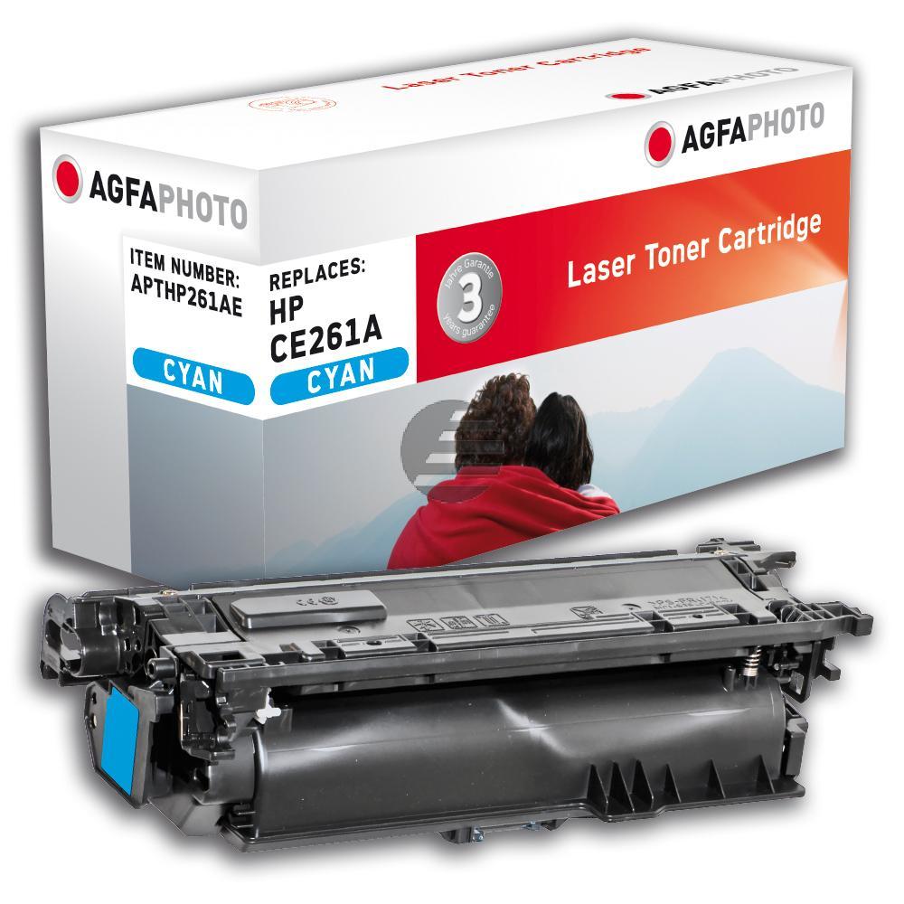 Agfaphoto Toner-Kartusche cyan (APTHP261AE) ersetzt CE261A / 648A