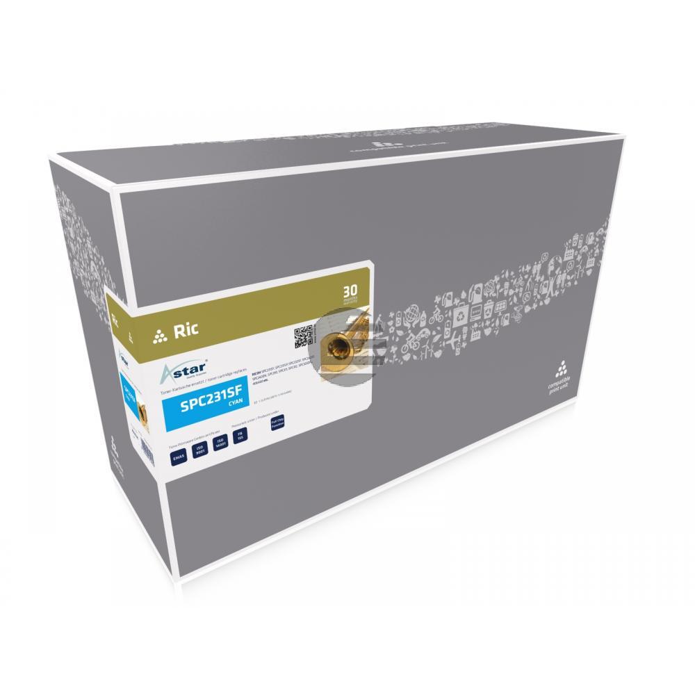Astar Toner-Kartusche cyan HC (AS14231) ersetzt 406480 / TYP-SPC310HE