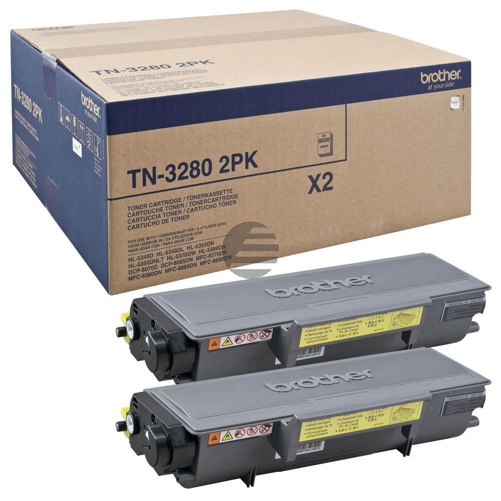 Brother Toner-Kit 2 x schwarz HC (TN-3280TWIN)