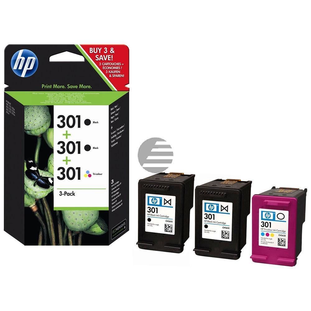 HP Tintendruckkopf Cyan/gelb/Magenta 2x schwarz 3er Pack (E5Y87EE, 3x 301)
