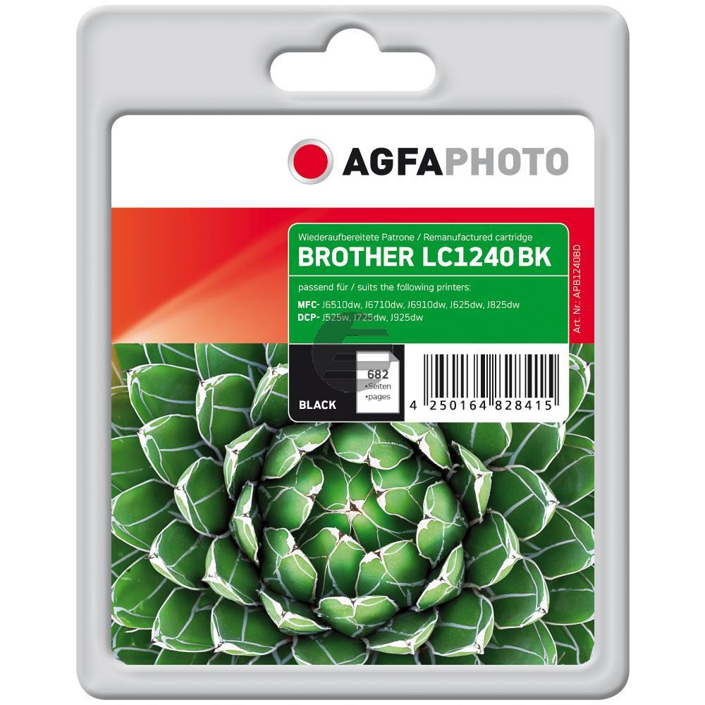 Agfaphoto Tintenpatrone schwarz (APB1240BD) ersetzt LC-1240BK