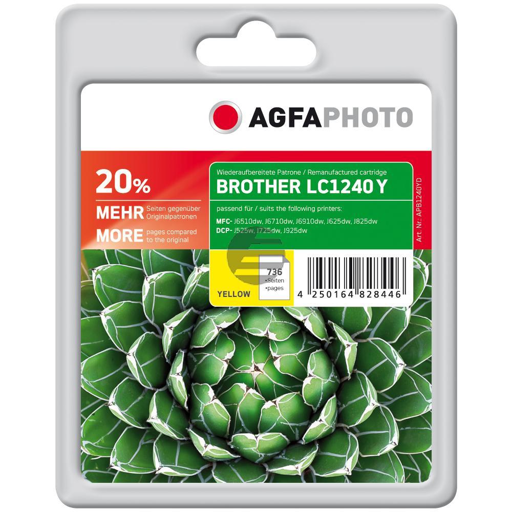 Agfaphoto Tintenpatrone gelb (APB1240YD) ersetzt LC-1240Y