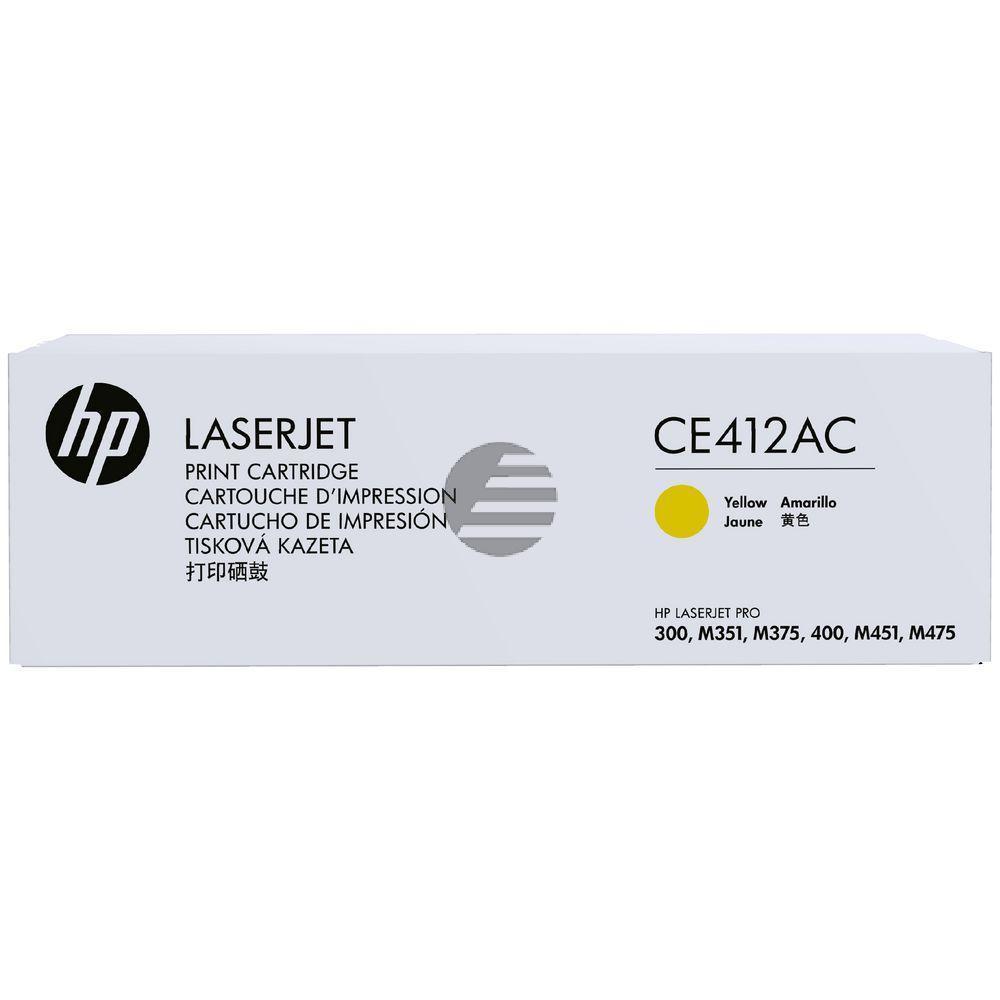 HP Toner-Kartusche Contract gelb (CE412AC, 305AC)