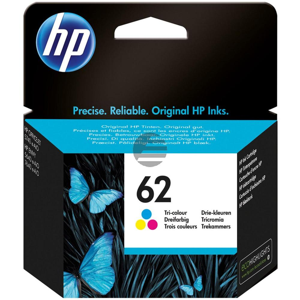 HP Tintendruckkopf cyan/gelb/magenta (C2P06AE, 62)