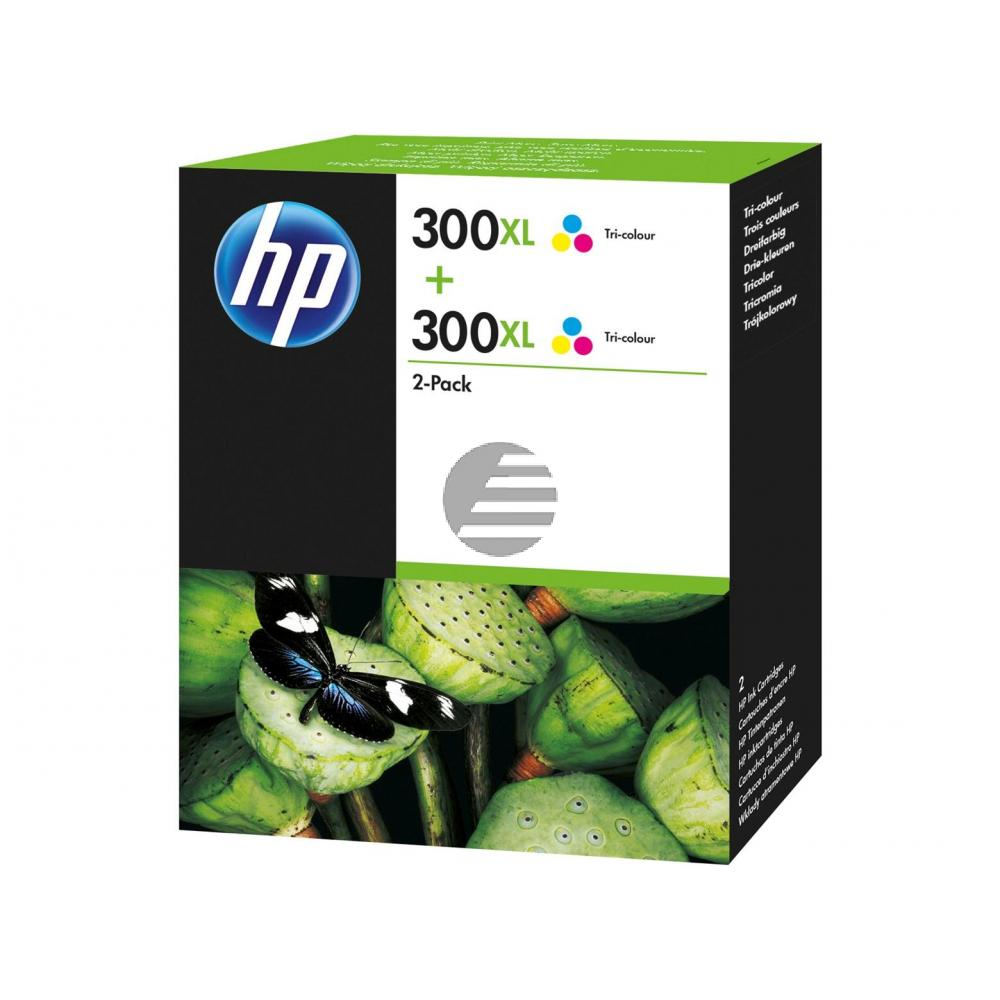 HP Tintendruckkopf 2x cyan/gelb/magenta (D8J44AE, 2x 300XL)