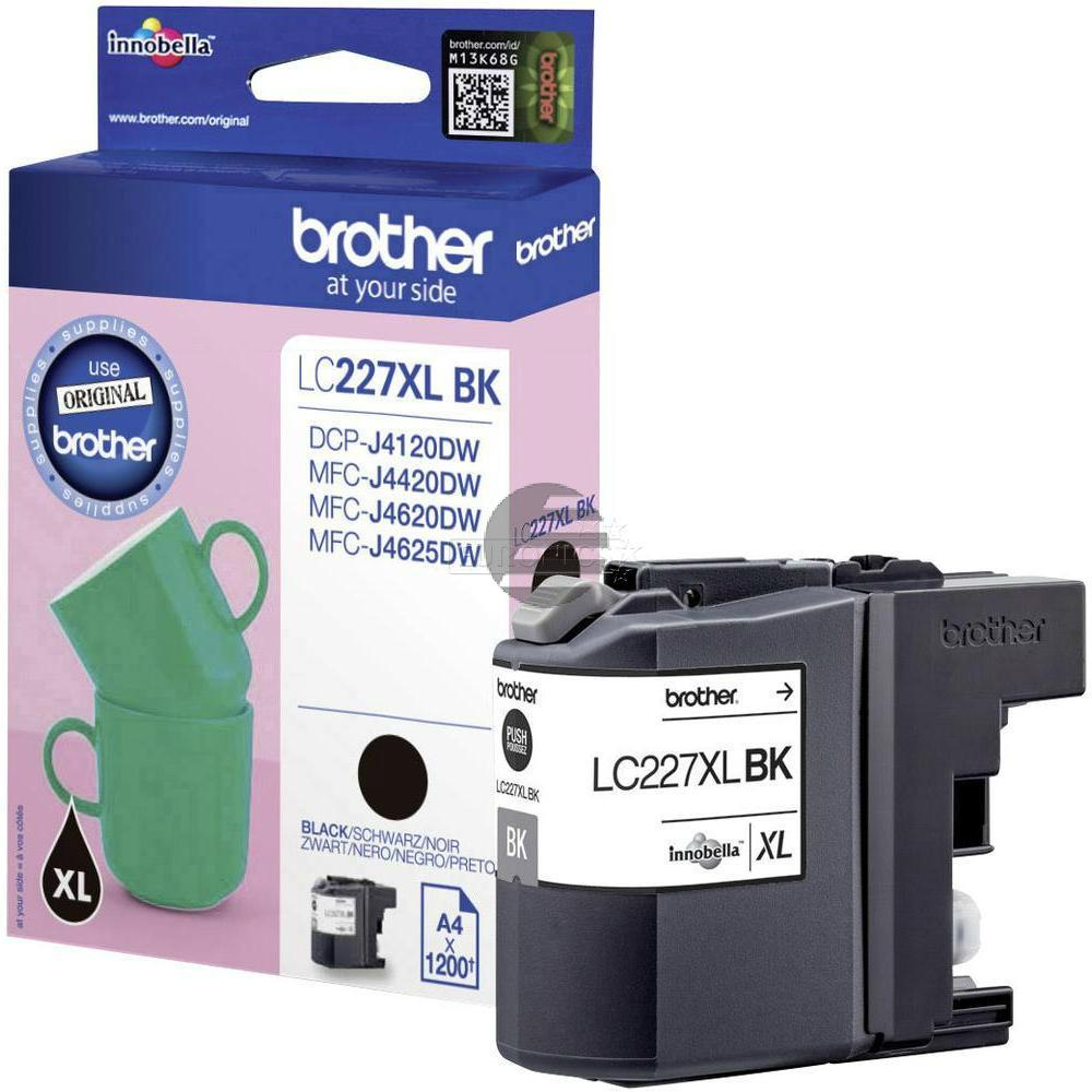 Brother Tinte schwarz HC (LC-227XLBK)