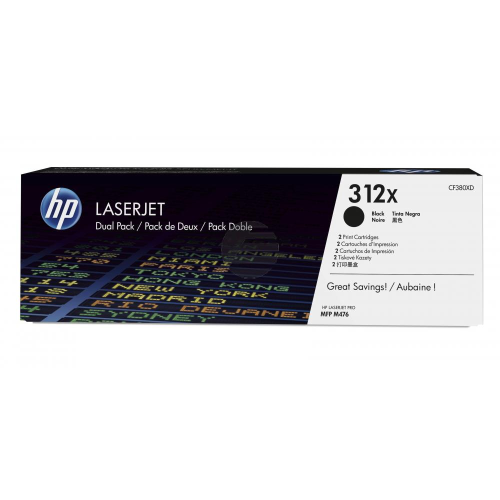 HP Toner-Kartusche 2 x schwarz HC (CF380XD, 312XD)