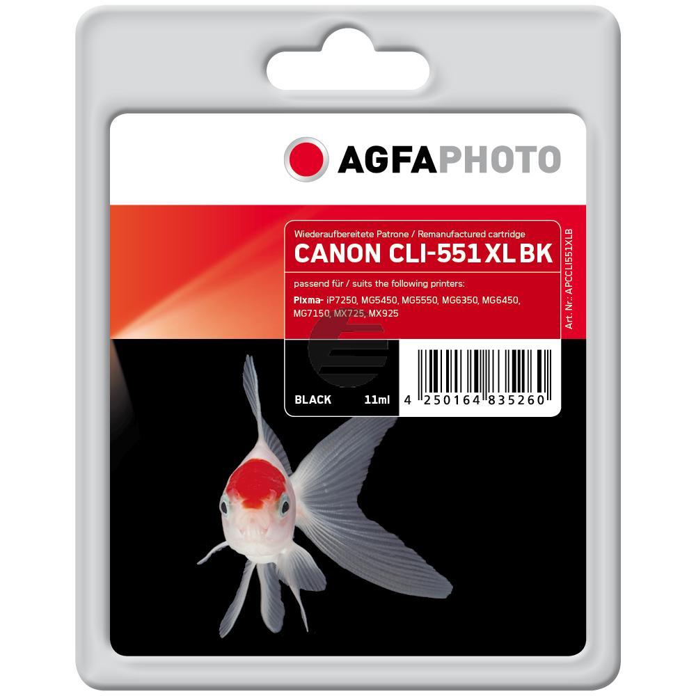 Agfaphoto Tintenpatrone schwarz (APCCLI551XLB)