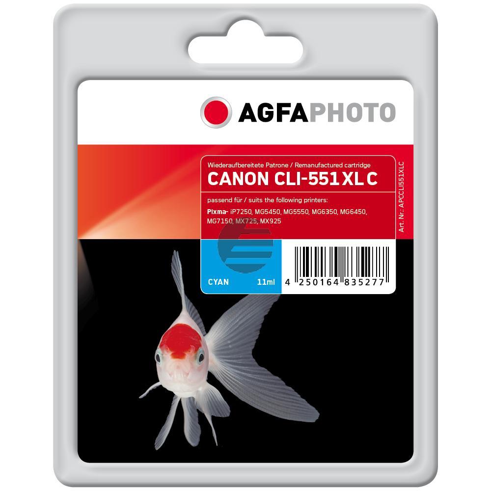 Agfaphoto Tinte Cyan (APCCLI551XLC)