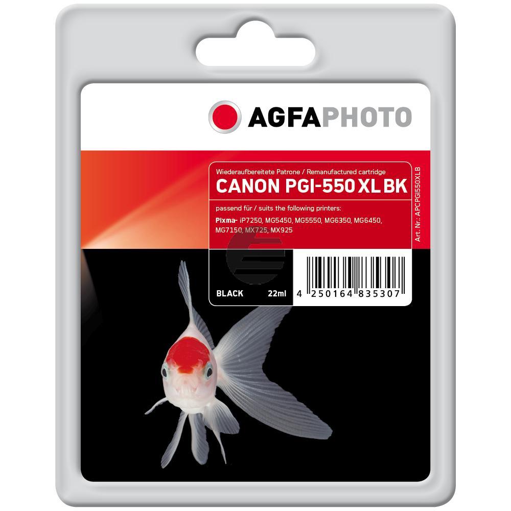 Agfaphoto Tintenpatrone pigment schwarz (APCPGI550XLB)