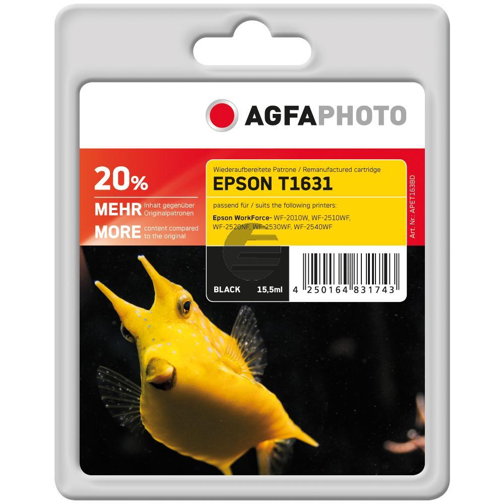Agfaphoto Tintenpatrone schwarz (APET163BD) ersetzt C13T16314010 / T1631