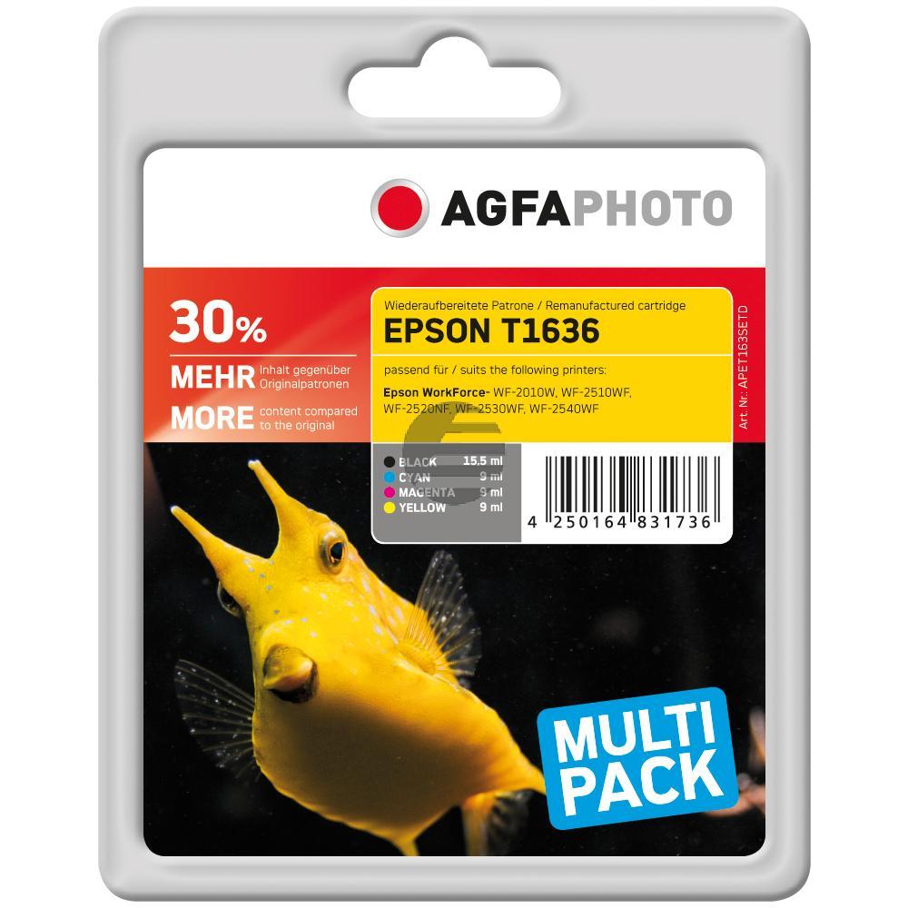 Agfaphoto Tinte gelb Cyan Magenta schwarz HC (APET163SETD)