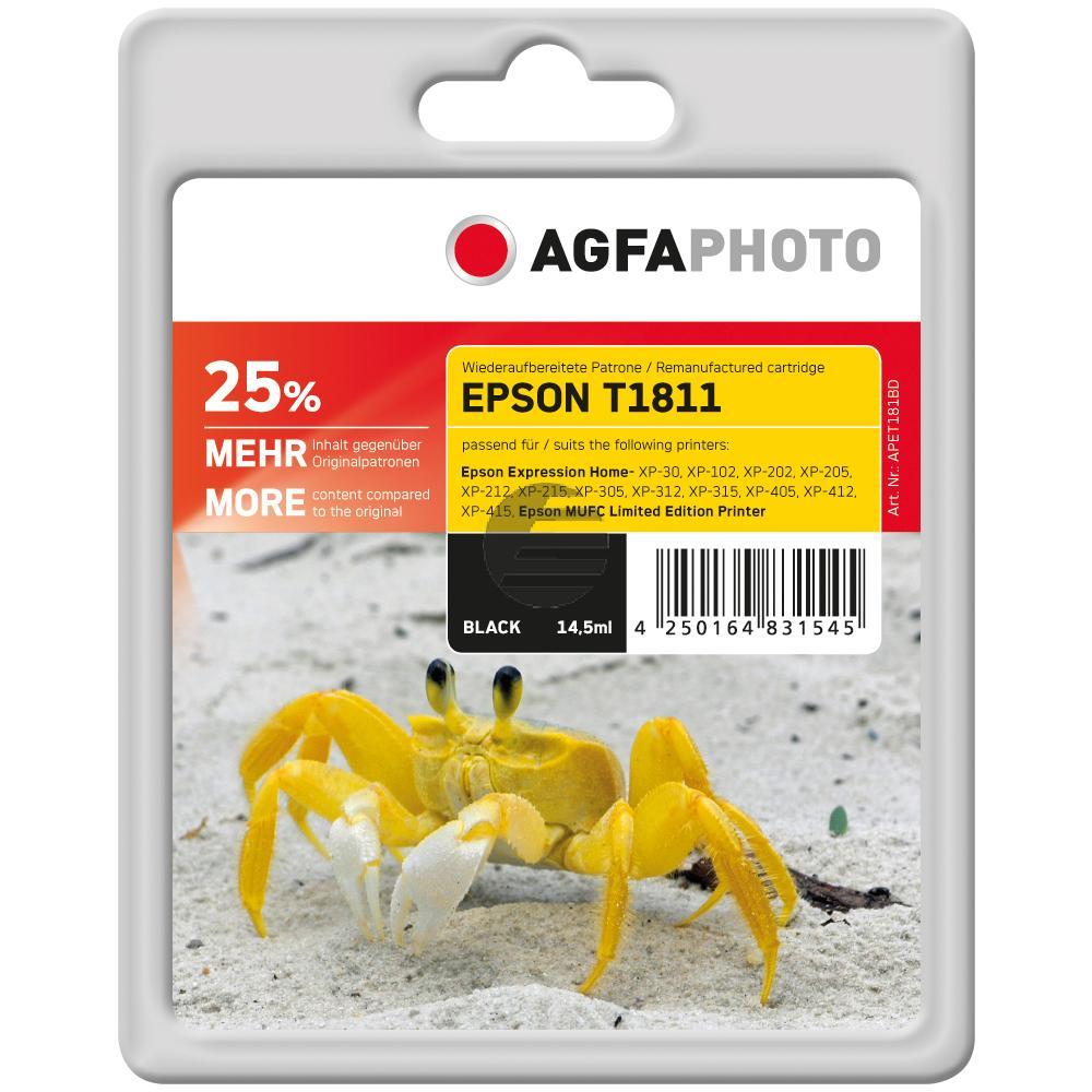 Agfaphoto Tinte schwarz HC (APET181BD)