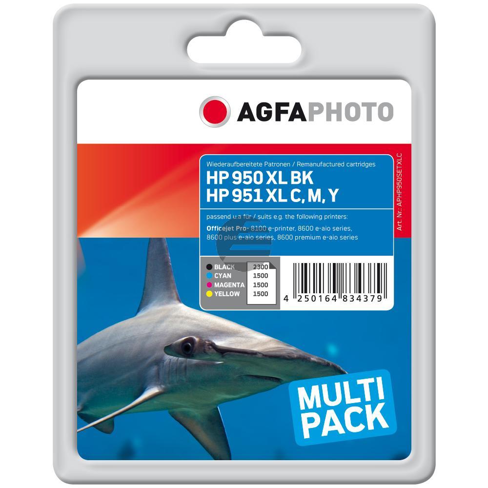 Agfaphoto Tintenpatrone 2x gelb magenta schwarz (APHP950SETXLC)