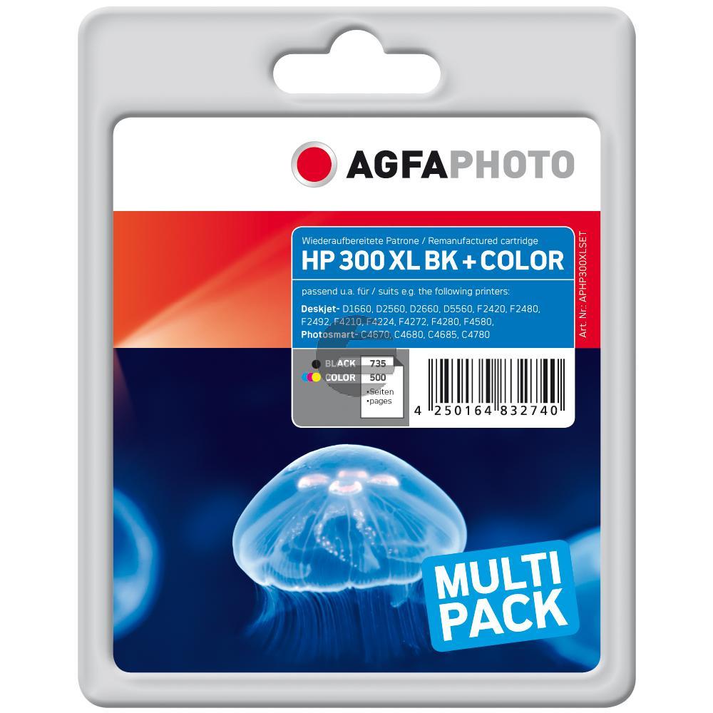 Agfaphoto Tintendruckkopf Cyan/gelb/Magenta schwarz (APHP300XLSET)