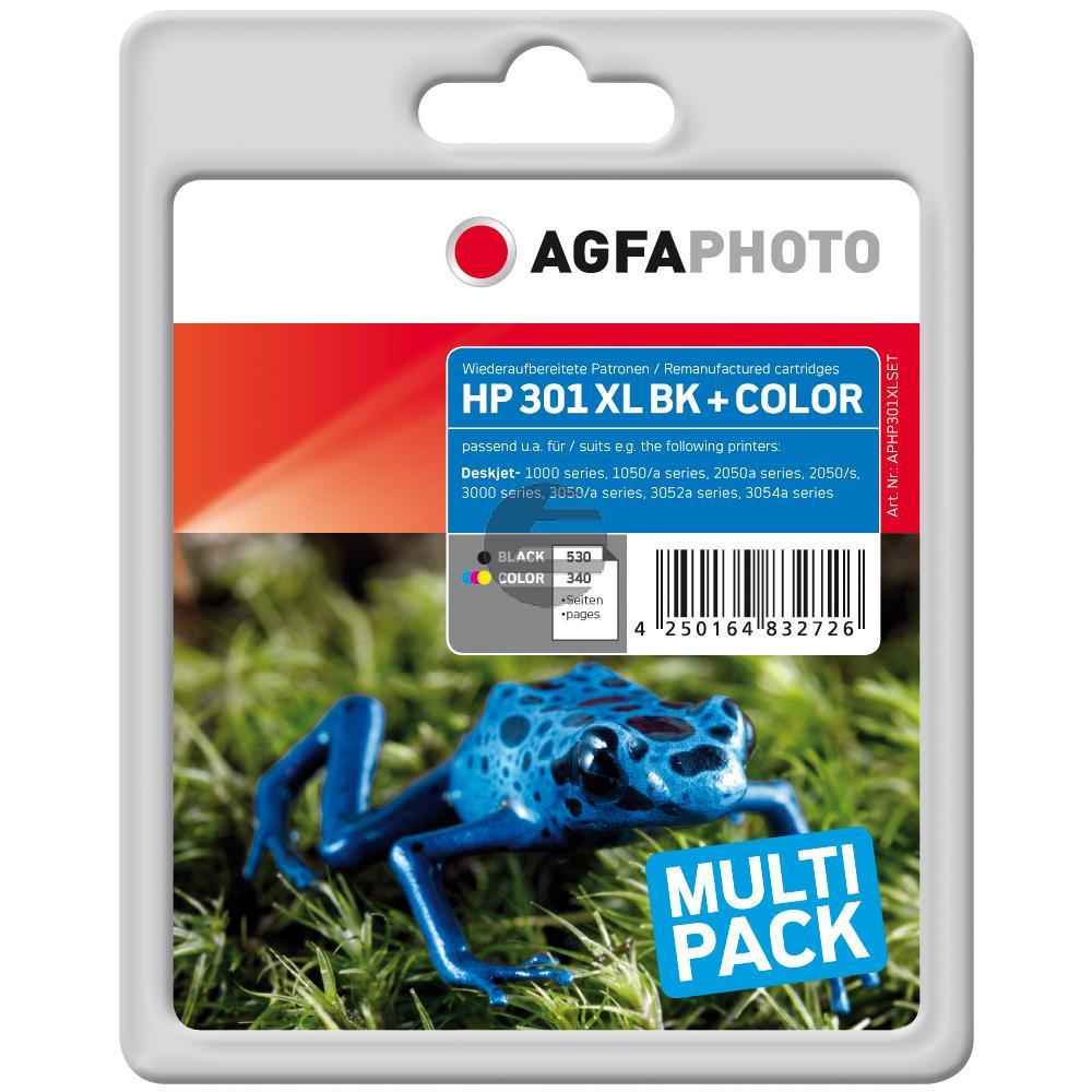 Agfaphoto Tintendruckkopf cyan/gelb/magenta schwarz (APHP301XLSET)