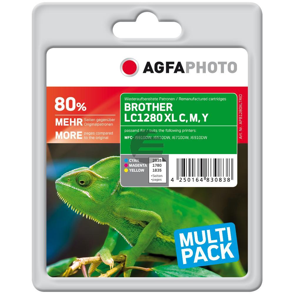 Agfaphoto Tinte gelb Cyan Magenta (APB1280XLTRID)