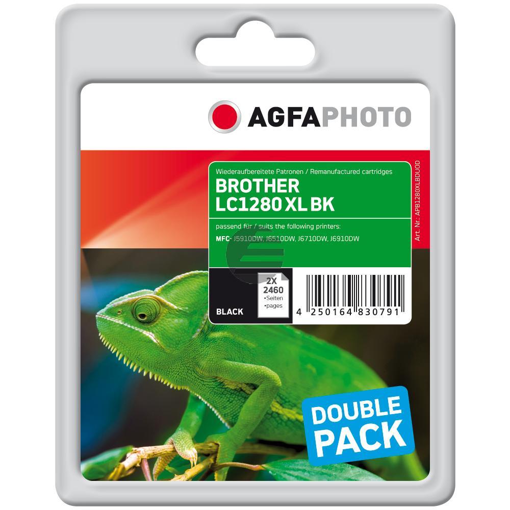 Agfaphoto Tintenpatrone 2x schwarz (APB1280XLBDUOD)