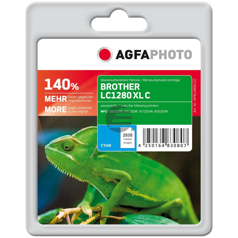 Agfaphoto Tinte Cyan (APB1280XLCD)