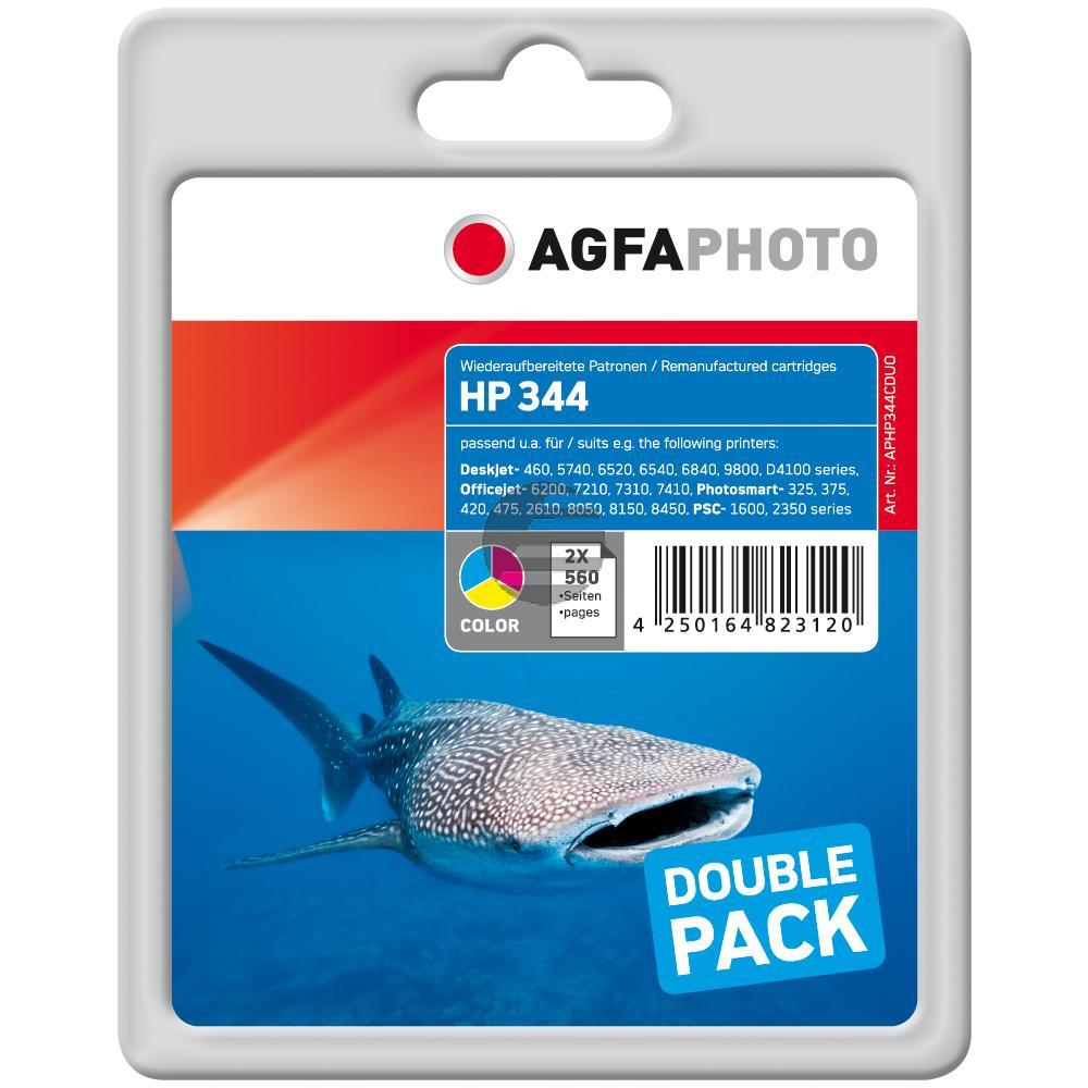 Agfaphoto Tintendruckkopf 2x cyan/gelb/magenta (APHP344CDUO)