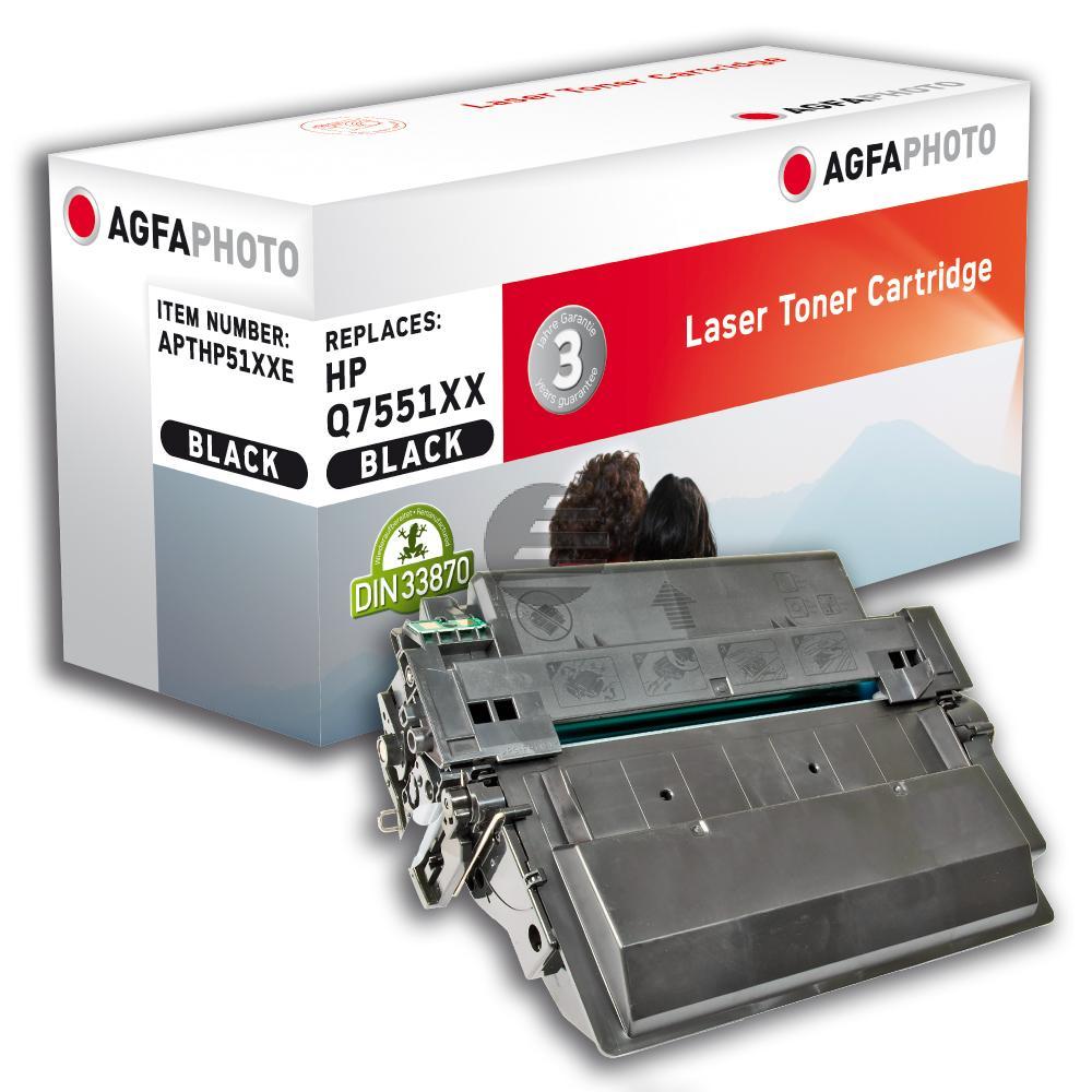 Agfaphoto Toner-Kartusche schwarz (APTHP51XXE) ersetzt Q7551X / 51X