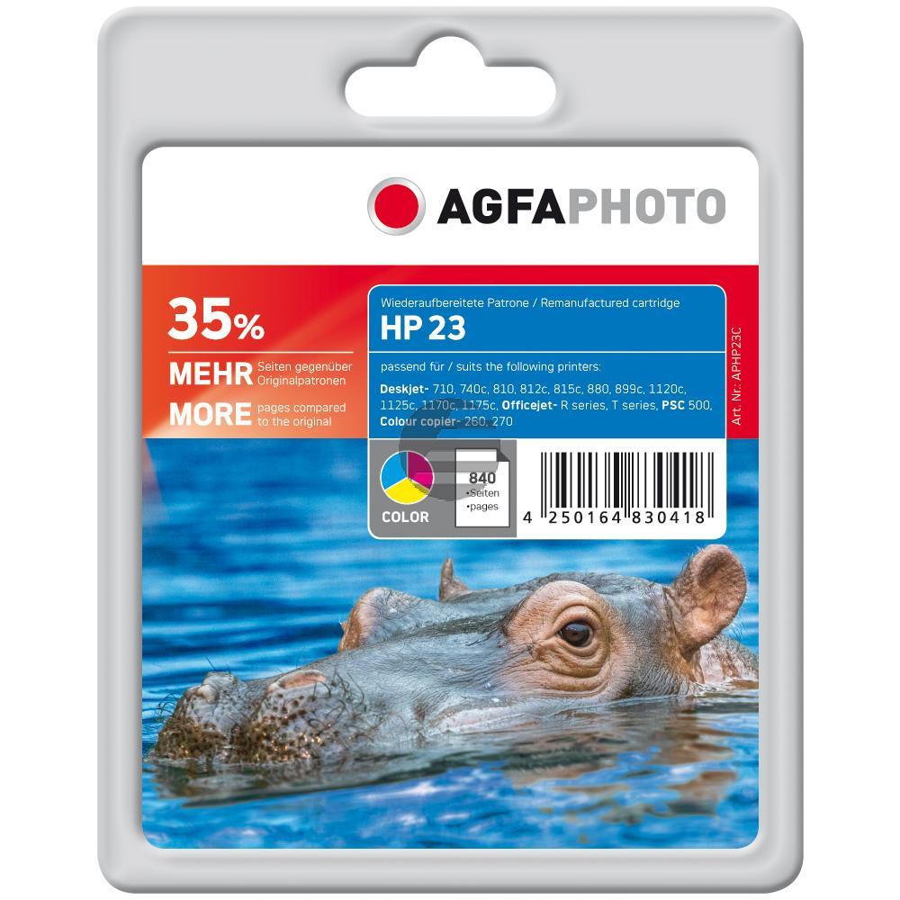 Agfaphoto Tintenpatrone cyan/gelb/magenta (APHP23C)