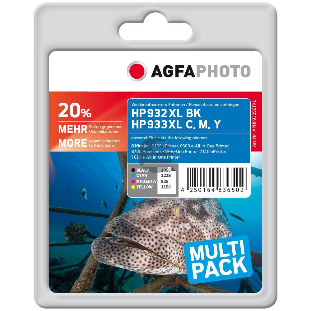 Agfaphoto Tintenpatrone gelb cyan magenta schwarz HC (APHP932SETXL)