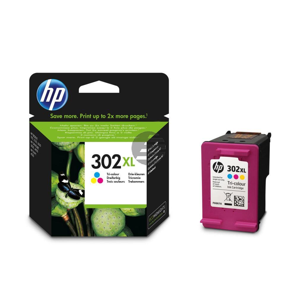 HP Tintendruckkopf cyan/gelb/magenta HC (F6U67AE, 302XL)