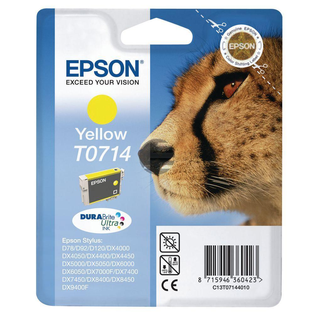 Epson Tintenpatrone gelb HC (C13T07144011, T0714)