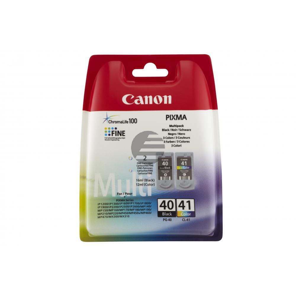 Canon Tintendruckkopf cyan/gelb/magenta schwarz (0615B051, CL-41 PG-40)