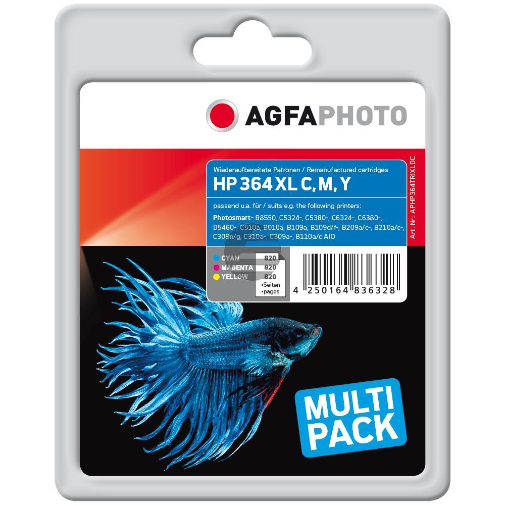 Agfaphoto Tintenpatrone gelb cyan magenta 3x 820 Seiten (APHP364TRIXLDC)