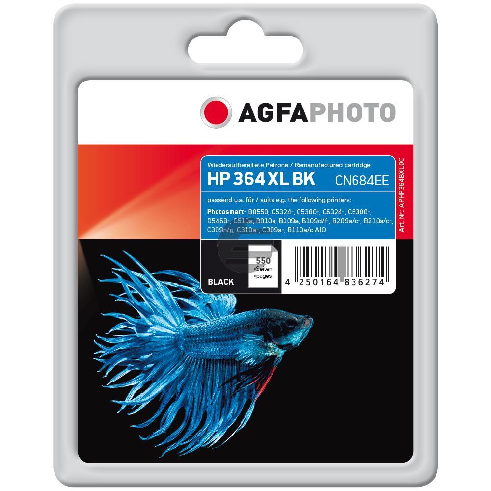 Agfaphoto Tintenpatrone schwarz HC (APHP364BXLDC)