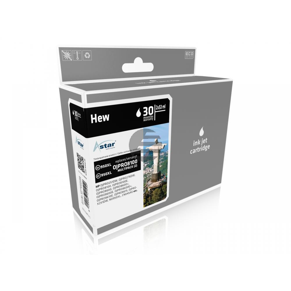 Astar Tintenpatrone 2x schwarz HC (AS42950)