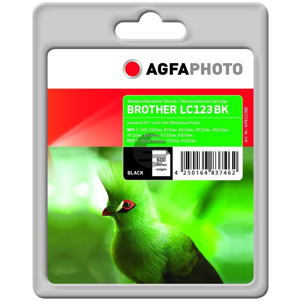 Agfaphoto Tintenpatrone schwarz (APB123BD)