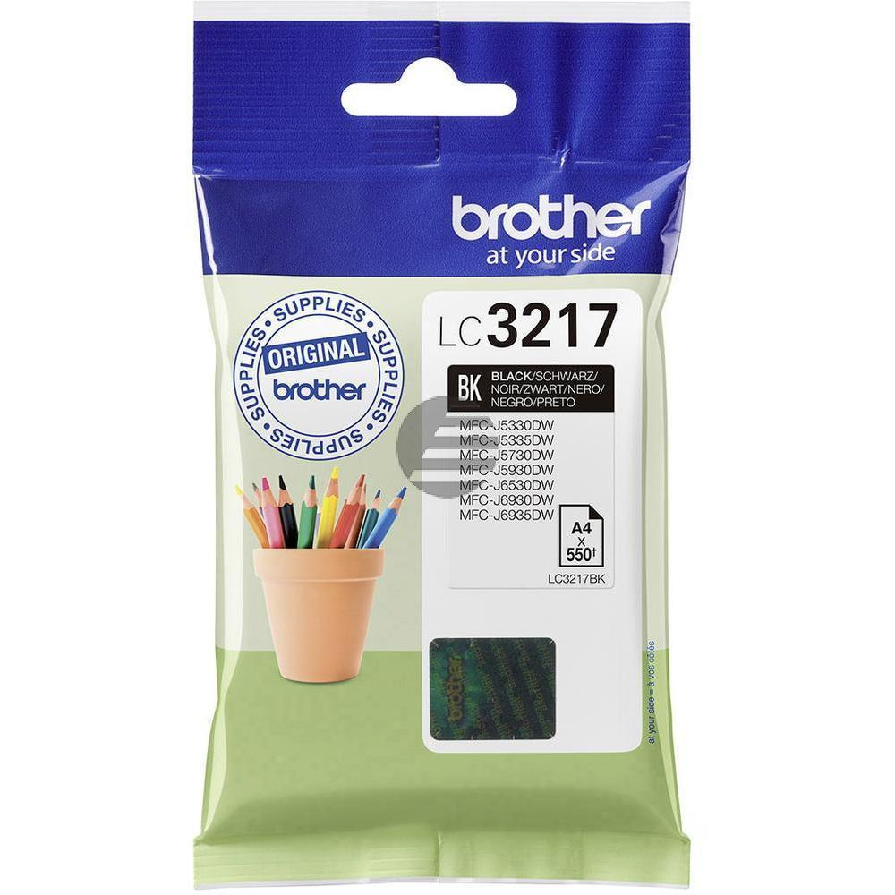 Brother Tinte schwarz (LC-3217BK)