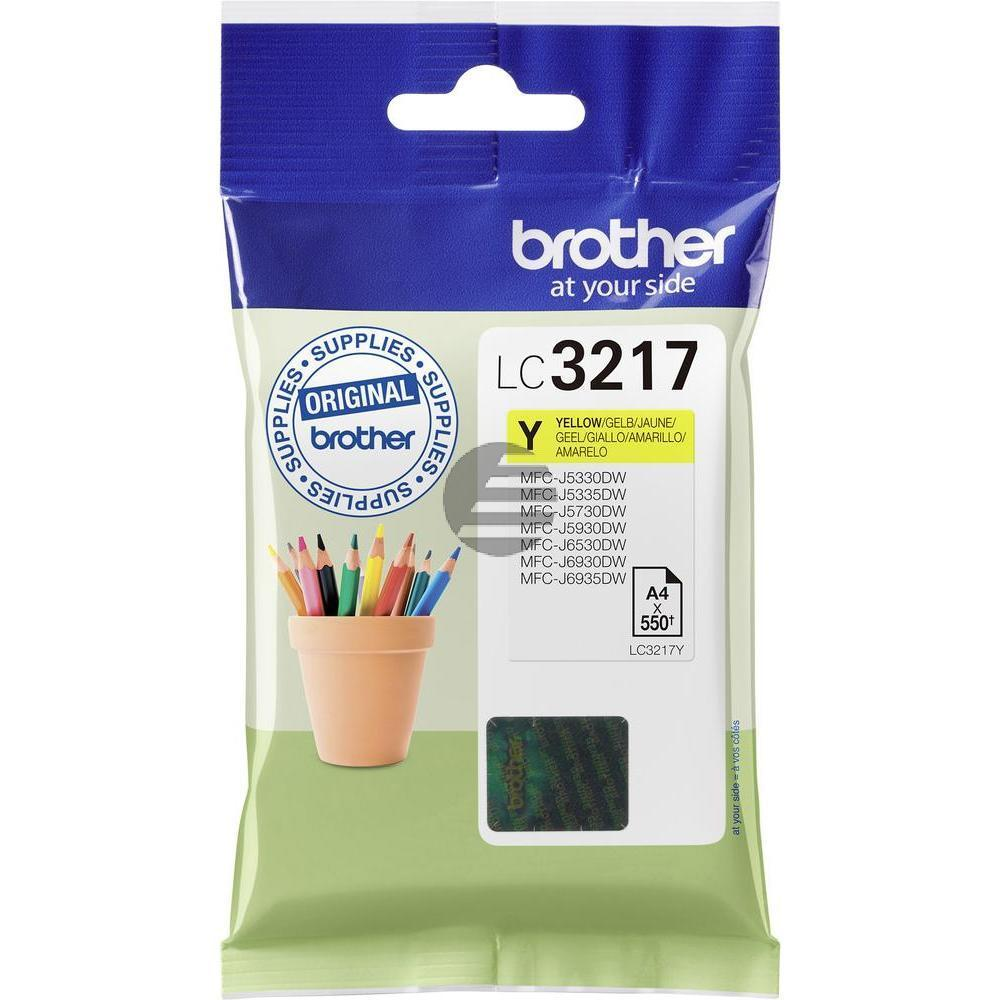 Brother Tinte gelb (LC-3217Y)