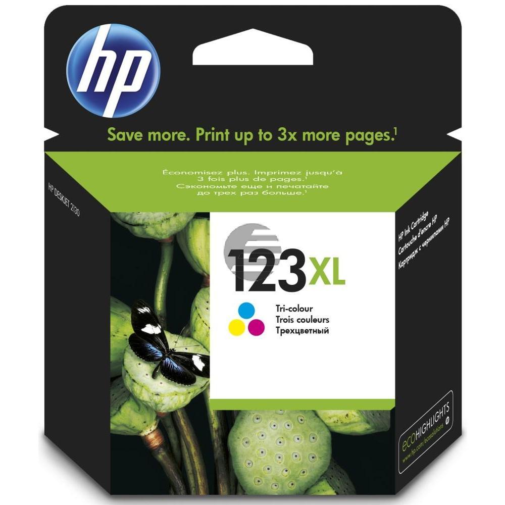 HP Tintendruckkopf cyan/gelb/magenta HC (F6V18AE, 123XL)