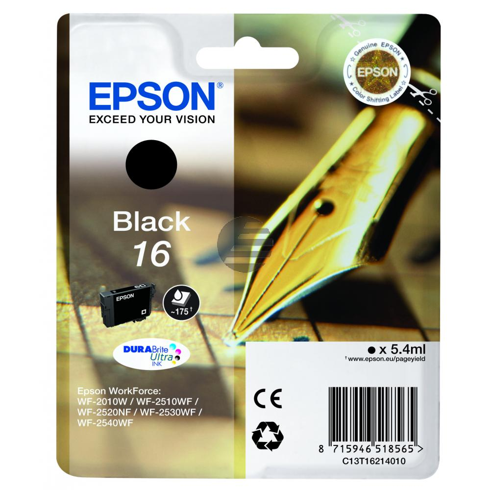 Epson Tinte schwarz (C13T16214012, T1621)