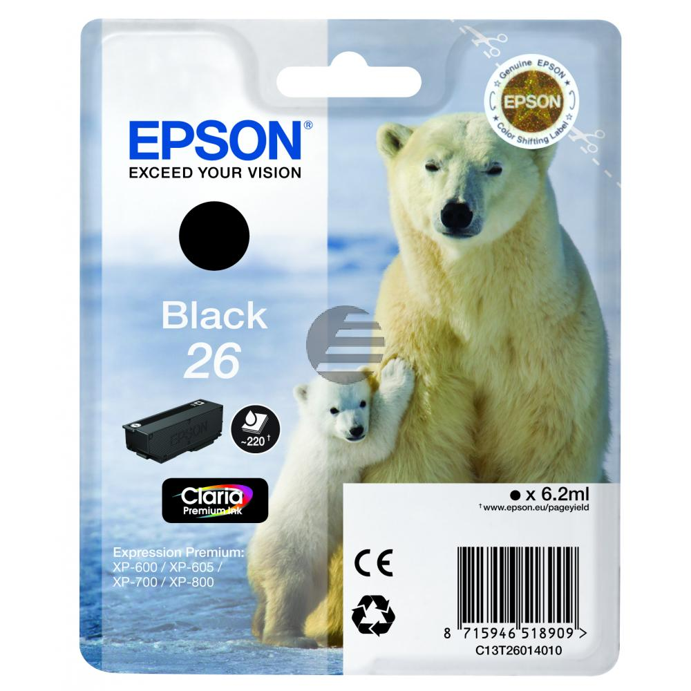 Epson Tinte schwarz (C13T26014012, T2601)