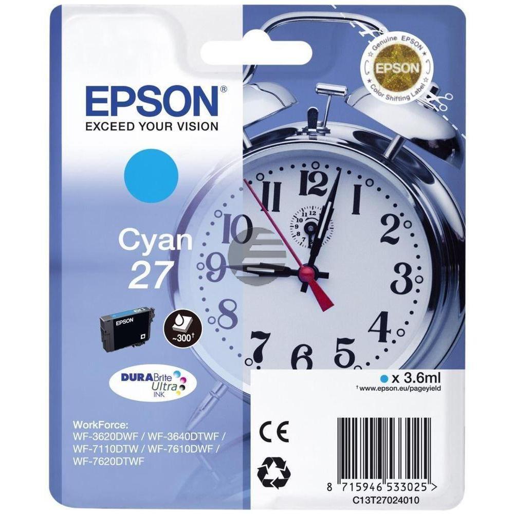 Epson Tintenpatrone cyan (C13T27024012, T2702)