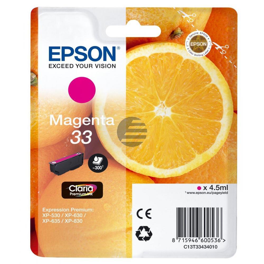 Epson Tintenpatrone magenta (C13T33434012, T3343)
