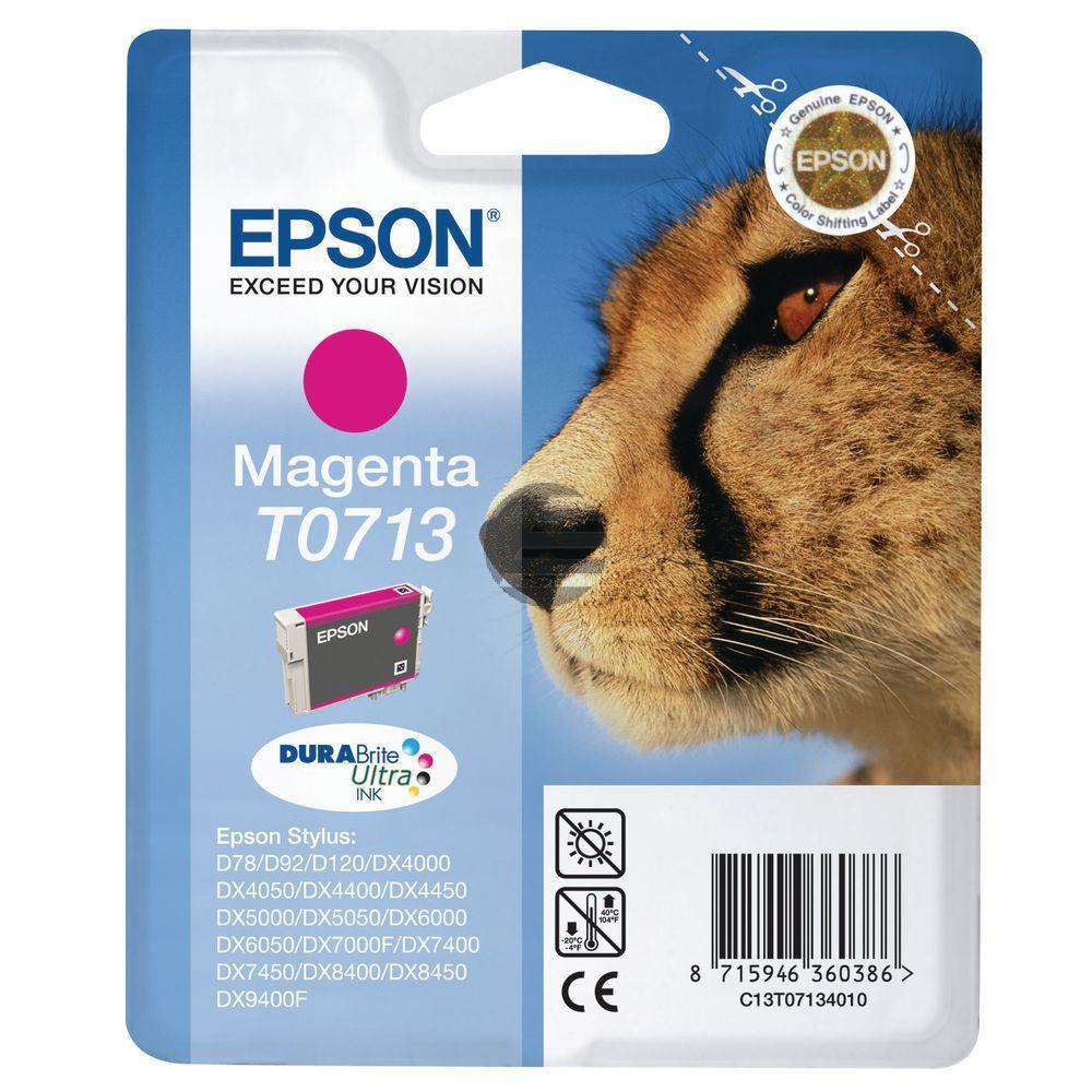 Epson Tintenpatrone magenta HC (C13T07134012, T0713)