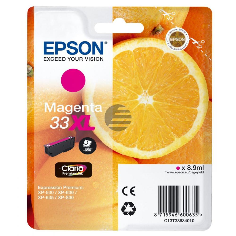 Epson Tintenpatrone with secure magenta HC (C13T33634012, T3363)