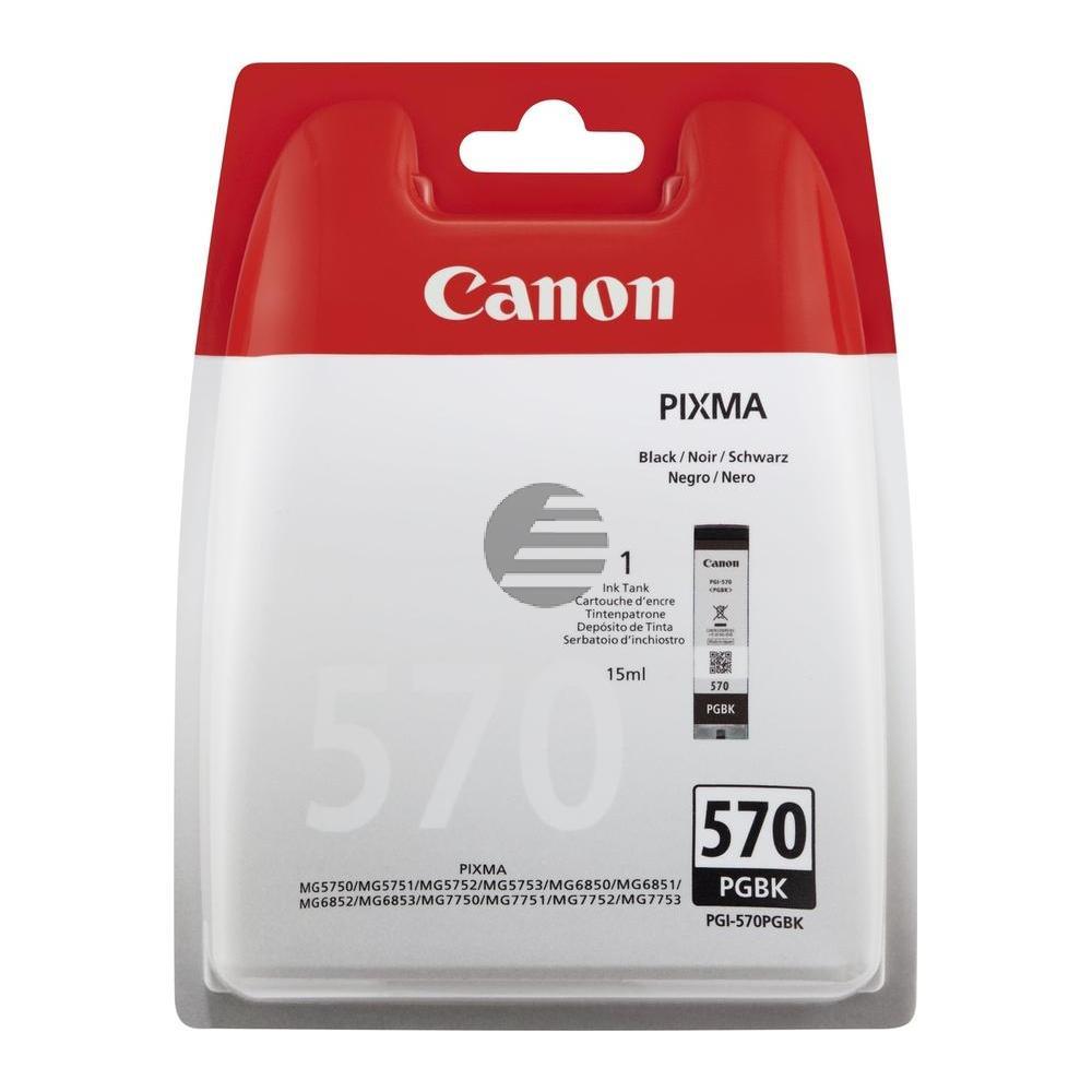 Canon Tinte Blister schwarz (0372C005, PGI-570PGBK)