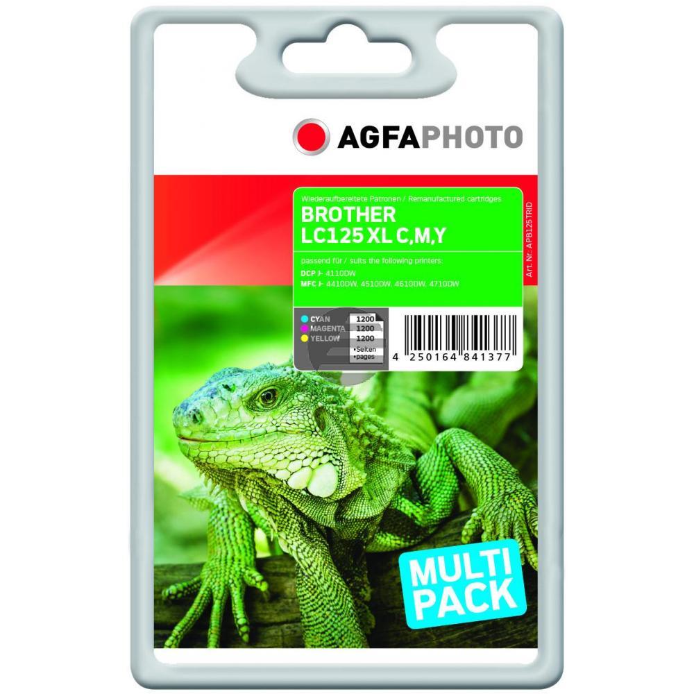 Agfaphoto Tintenpatrone gelb cyan magenta HC (APB125TRID)
