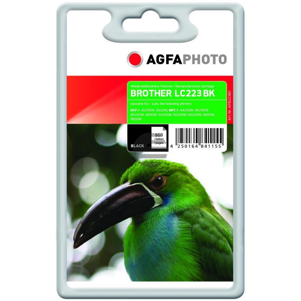 Agfaphoto Tintenpatrone schwarz (APB223BD)